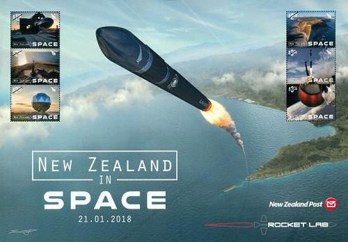 香港郵政代銷海外郵品:新西蘭航天發展2018