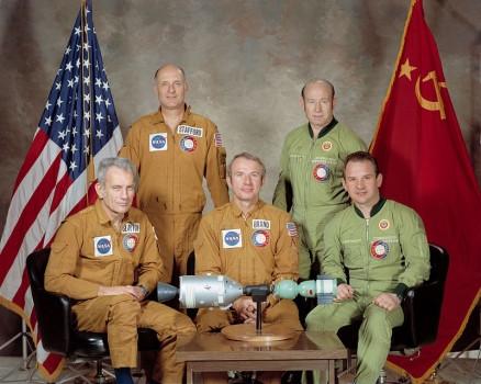 43年前今日美蘇首次進行載人太空船在軌道上對接