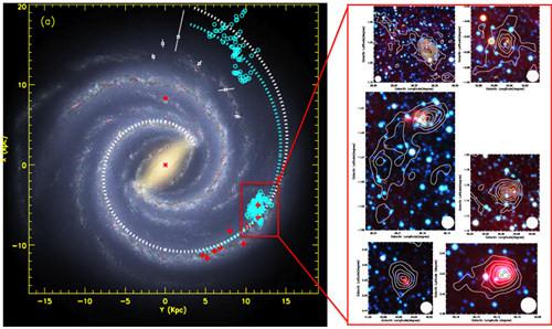 中國天文學家發現銀河系氣體盤邊緣的激微波發射